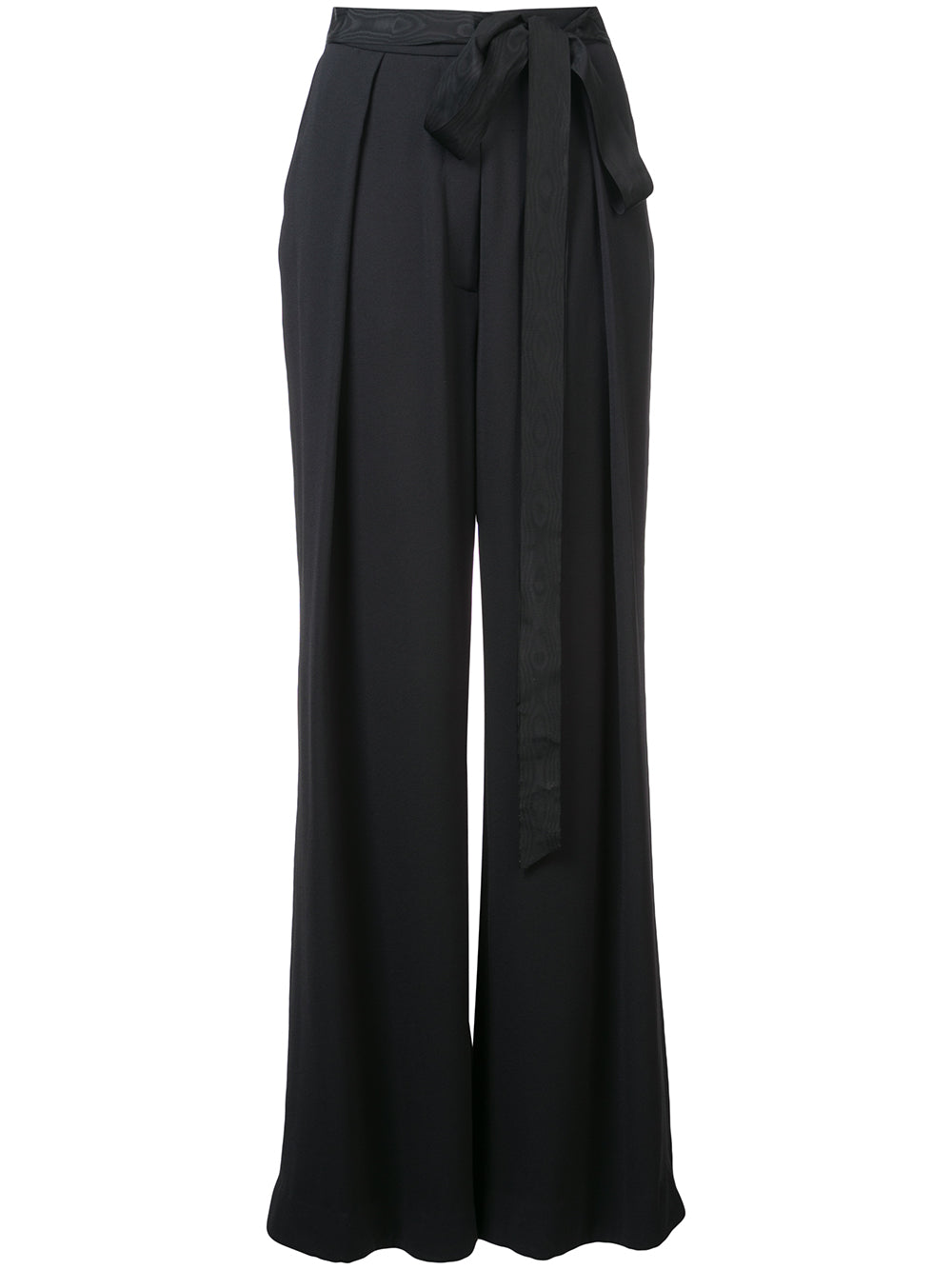 STRETCH CREPE TROUSER WITH INVERTED PLEATS