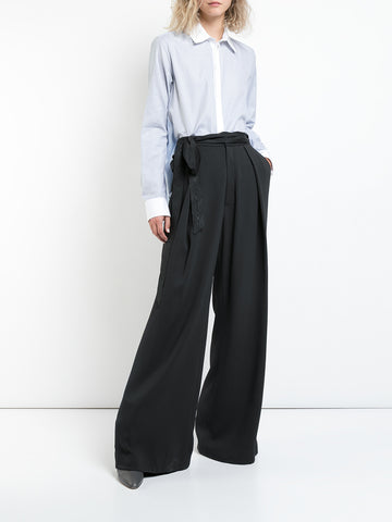 DOUBLE FACE WOOL FLAT FRONT MENSWEAR TROUSER