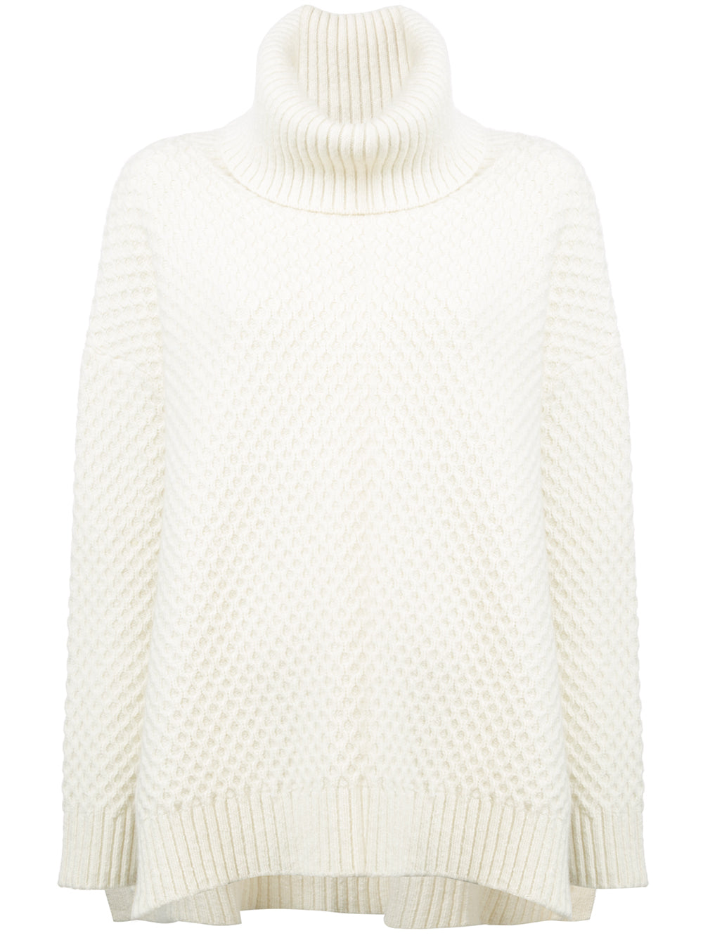4075b41b3ada MARLED WOOL CASHMERE BOXY TURTLENECK SWEATER WITH SIDE SLITS – Adam ...