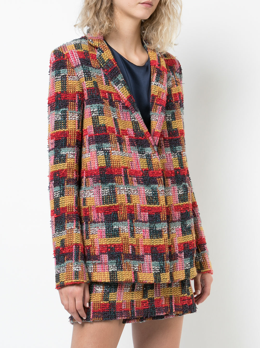 TWEED BLAZER WITH PATCH POCKETS