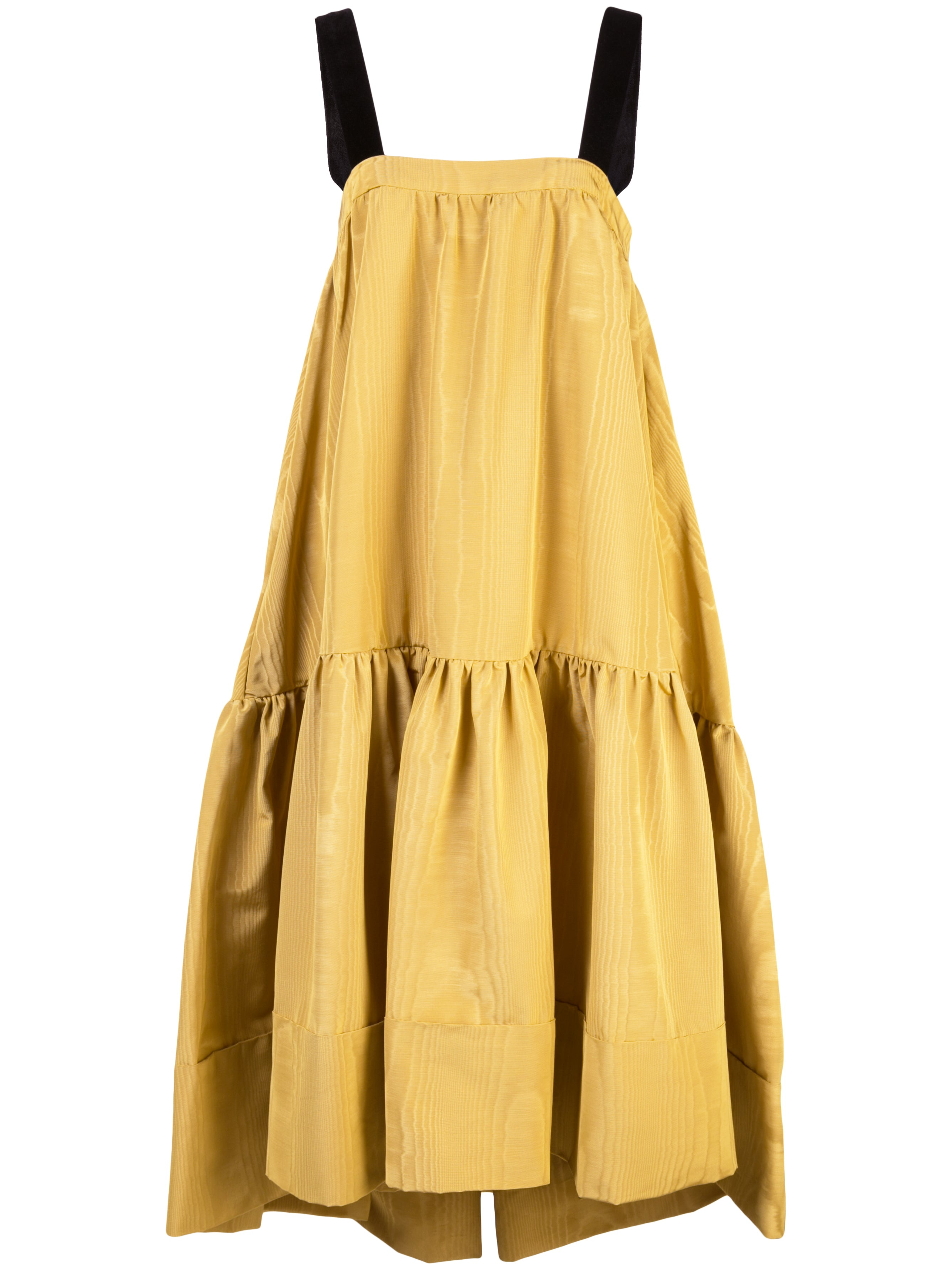 MOIRE TAFFETA DRESS WITH VELVET STRAPS