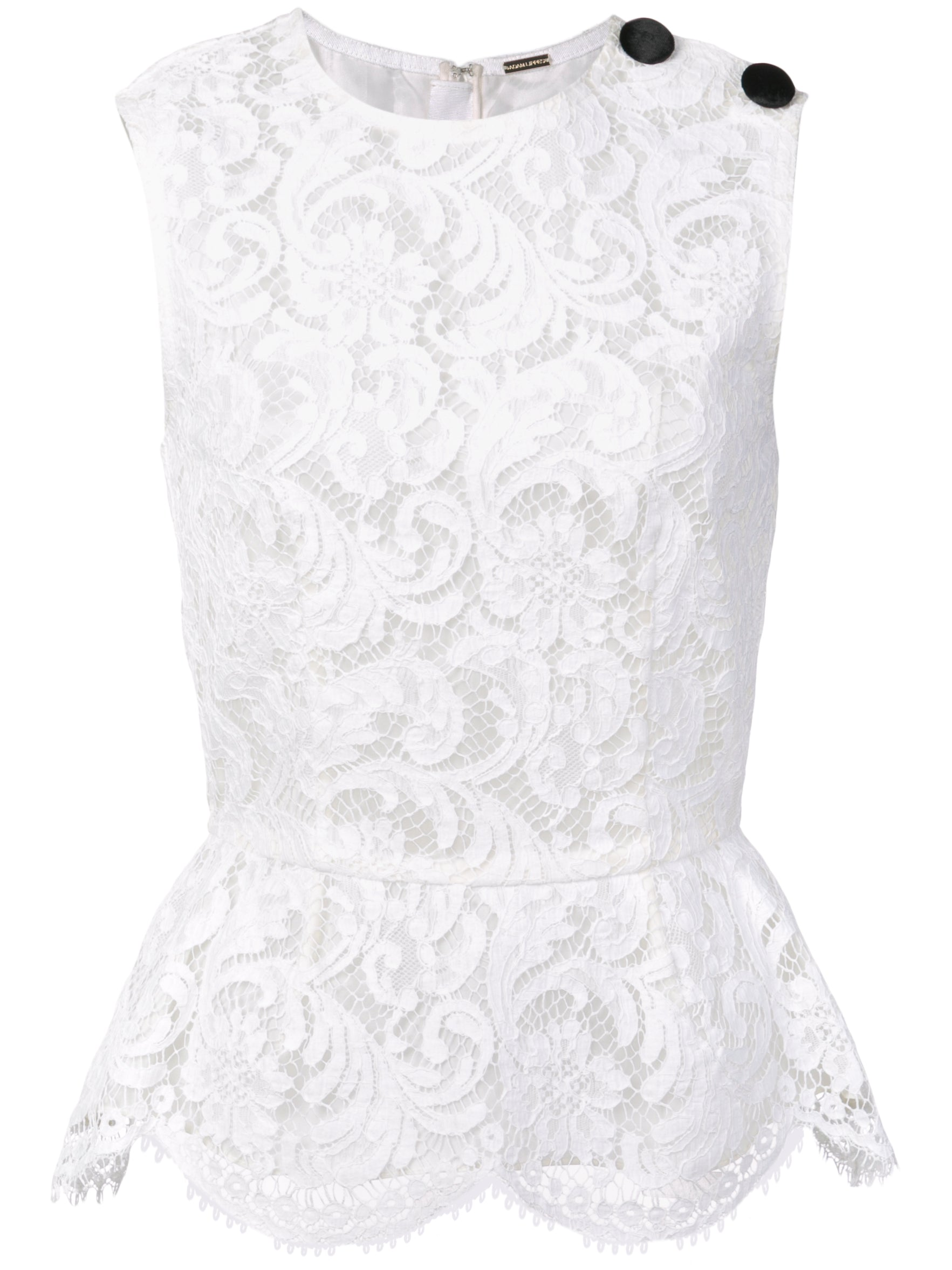 CORDED LACE PEPLUM TOP