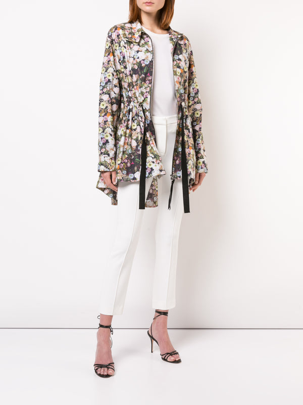 PRINTED COTTON POPLIN ANORAK