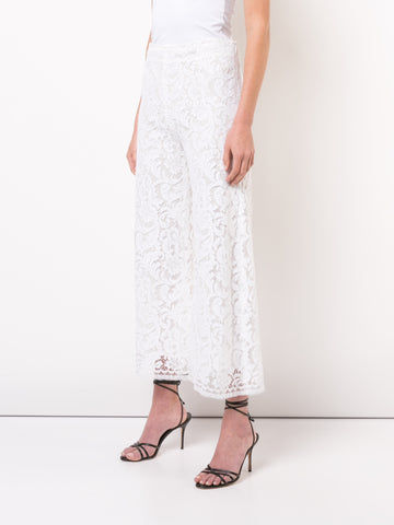 CORDED LACE CROPPED PANT
