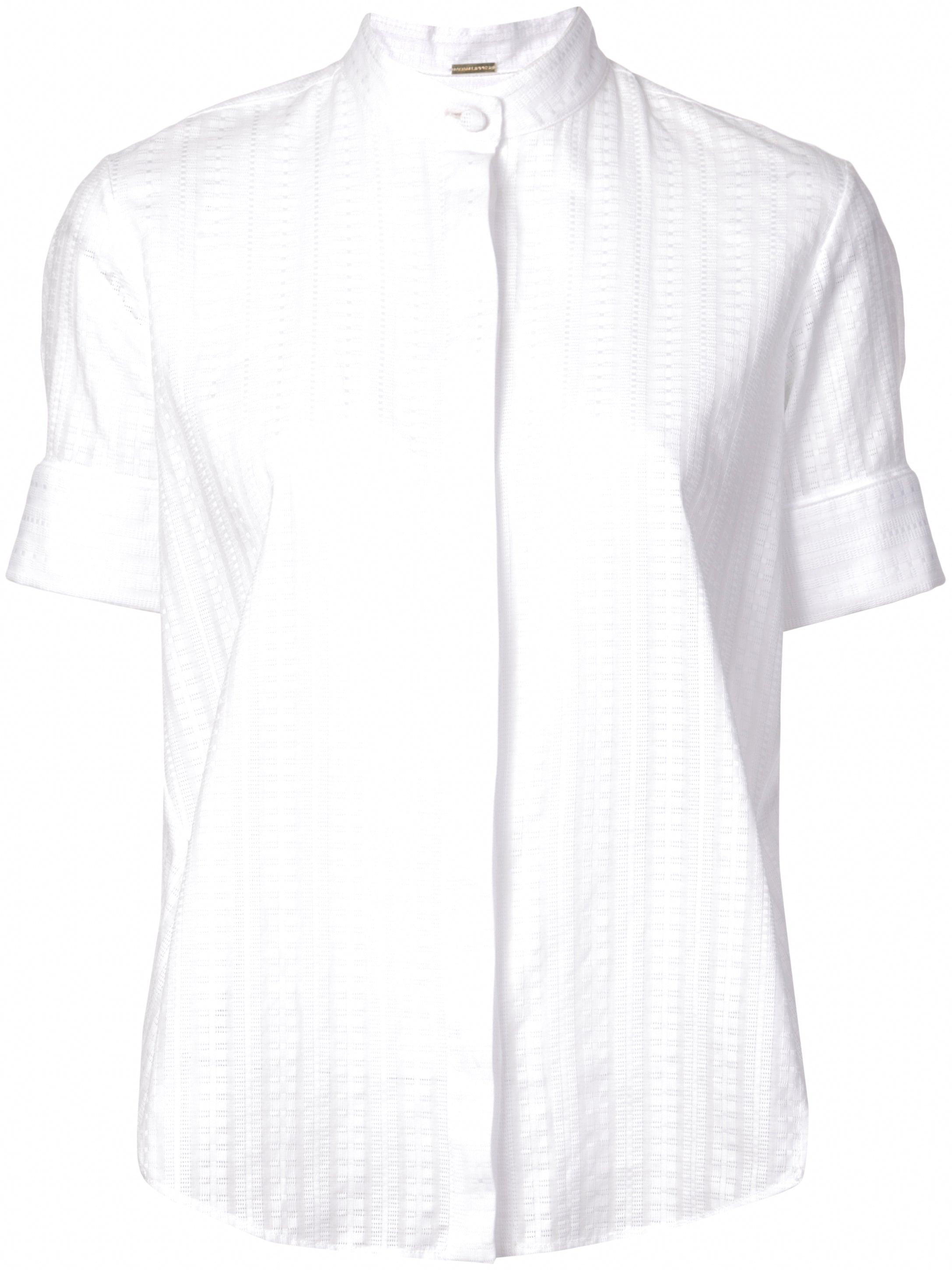 SWISS VOILE SHORT SLEEVE TRAPEZE SHIRT