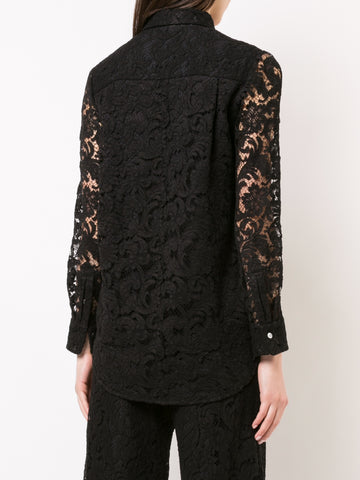 CORDED LACE LONG SLEEVE MENSWEAR SHIRT