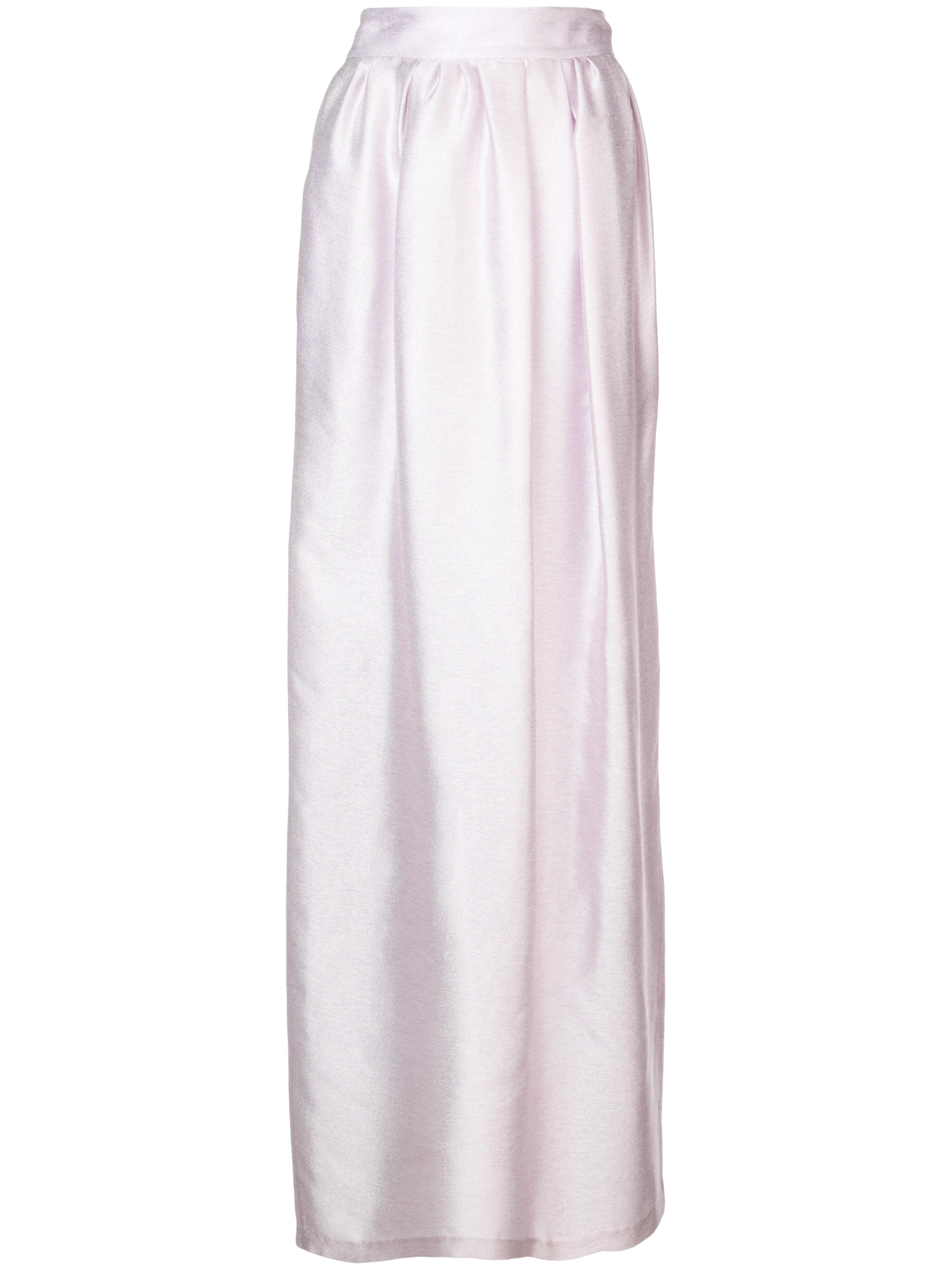 IRIDESCENT SILK LONG SKIRT