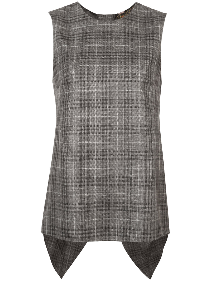 LORO PIANA PLAID SHELL WITH CROSS BACK
