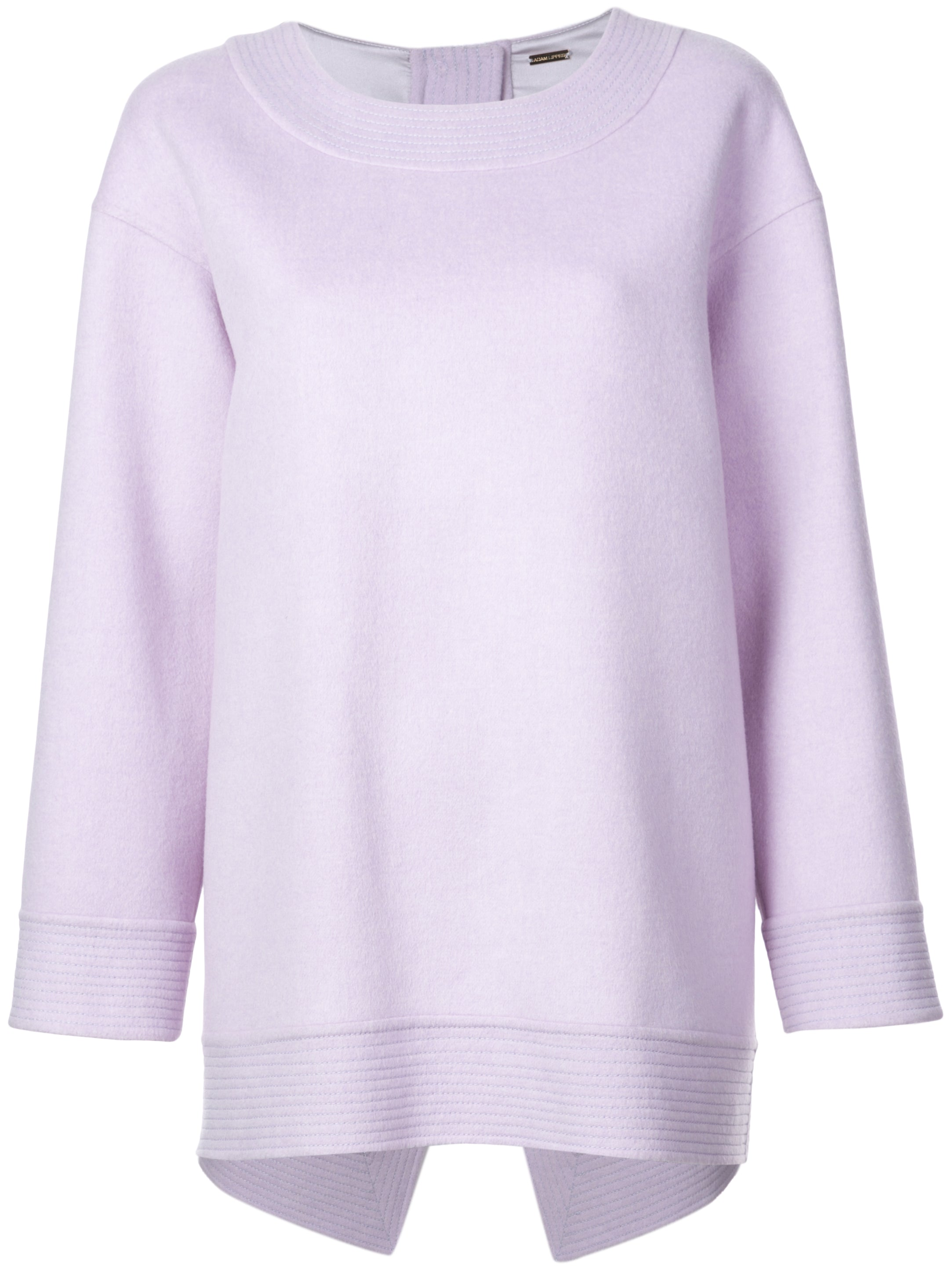 ANGORA WOOL SWEATSHIRT WITH CROSS BACK