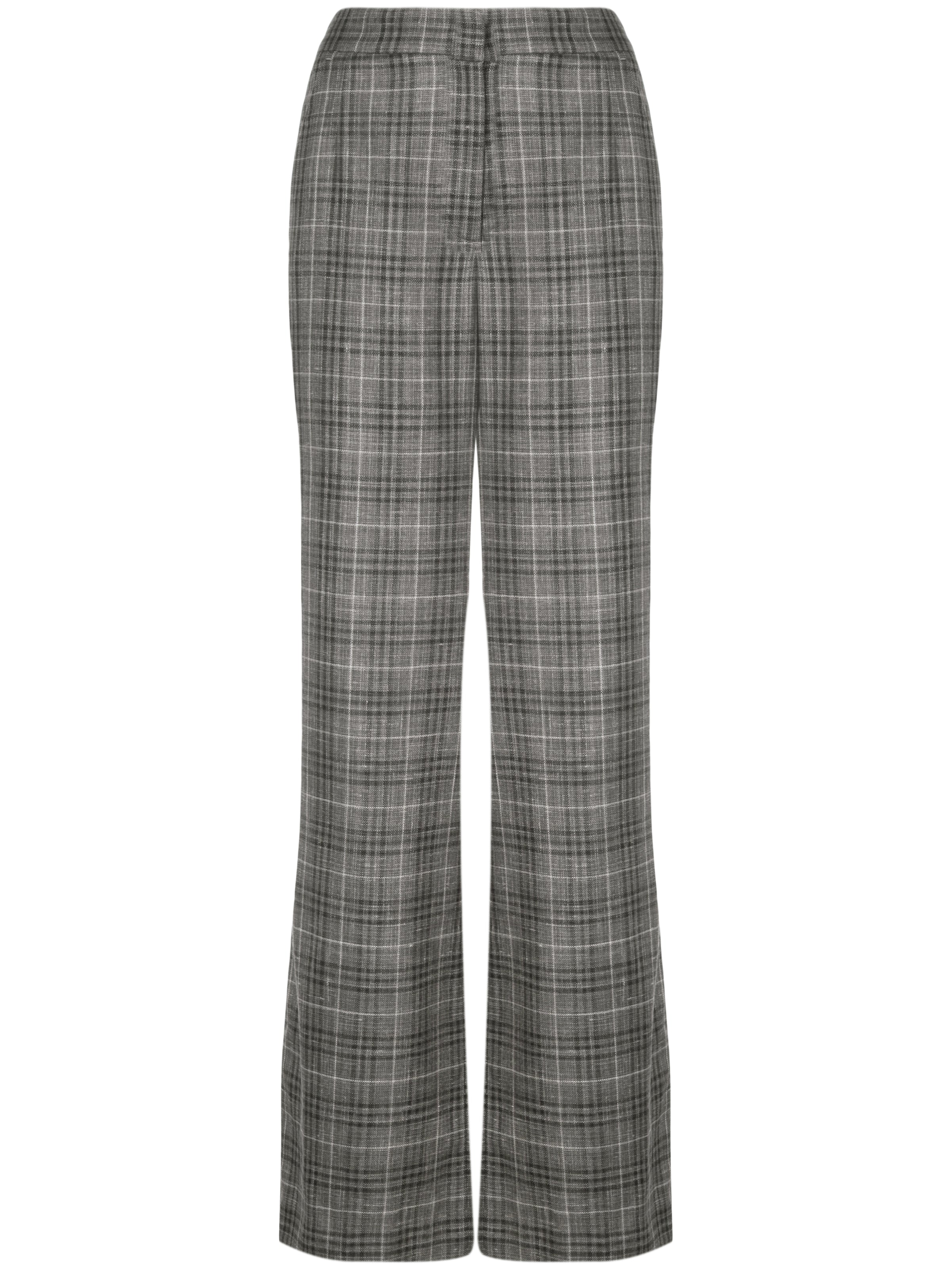 LORO PIANA PLAID FLAT FRONT MENSWEAR TROUSER