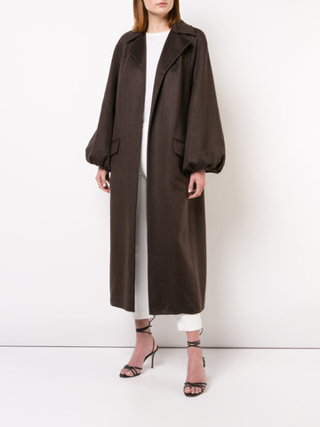 ZIBELLINE CASHMERE CAR COAT WITH MINK POCKETS