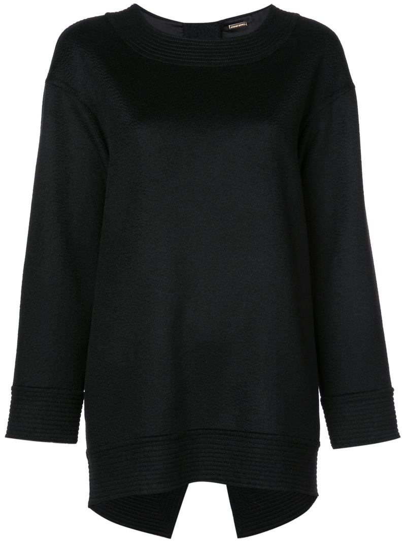 ZIBELLINE CASHMERE SWEATSHIRT WITH CROSS BACK