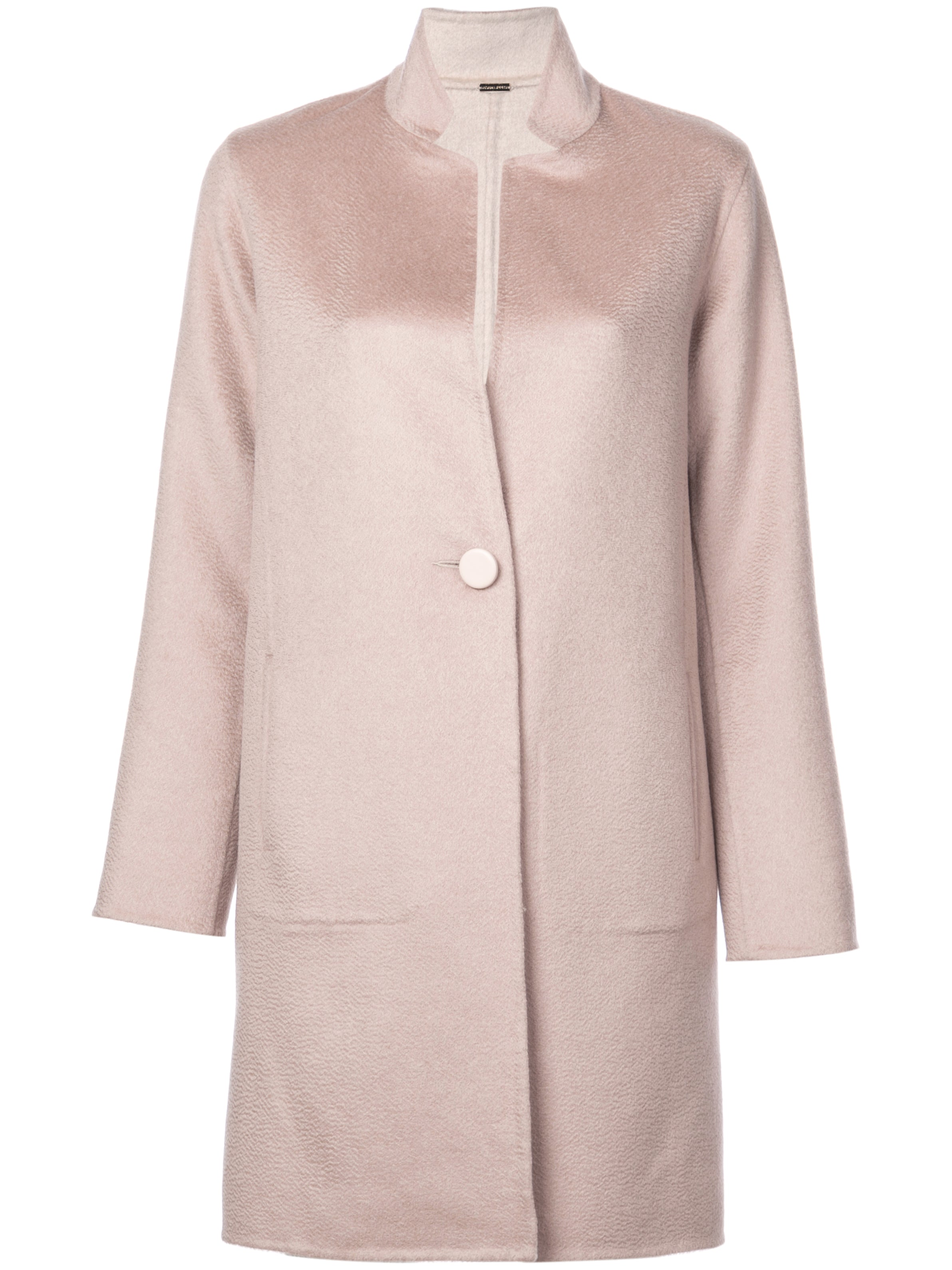Reversible Car Coat in Double Face Cashmere