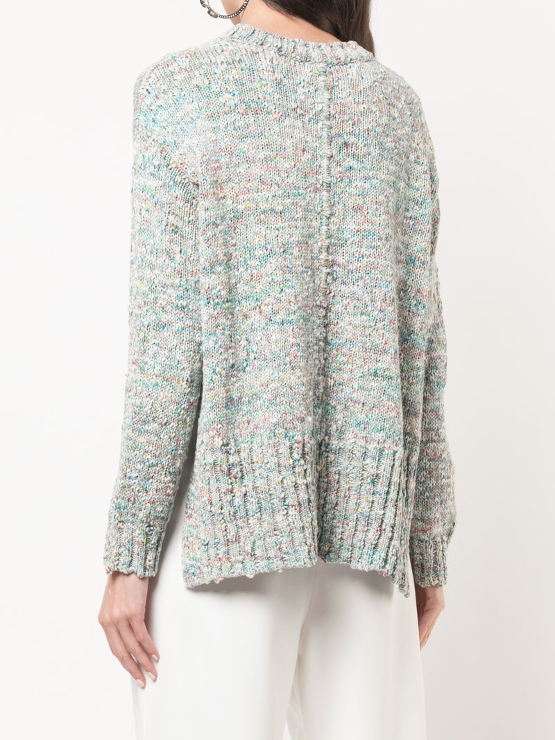 TEXTURED COTTON CREWNECK SWEATER
