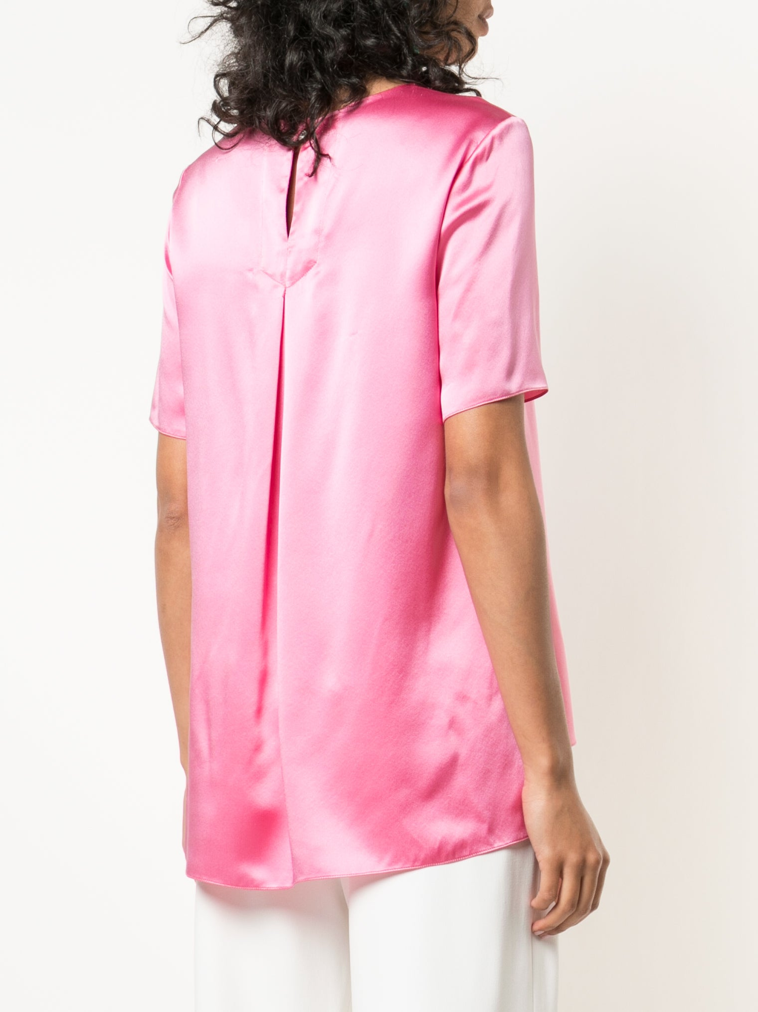 SILK CHARMEUSE T-SHIRT