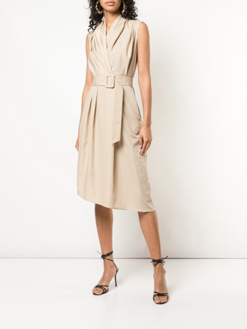 SWISS VOILE V-NECK DRESS