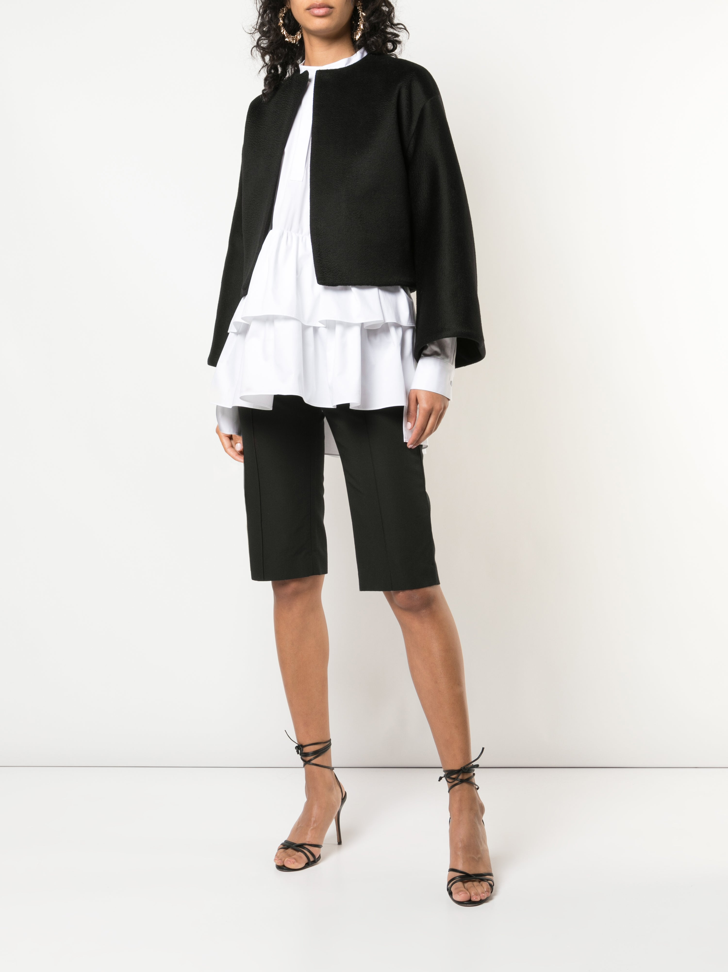 CROPPED JACKET IN ZIBELLINE CASHMERE