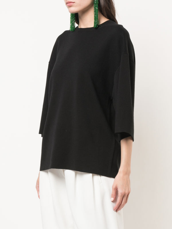 DOUBLE FACE MERINO WOOL SWEATER