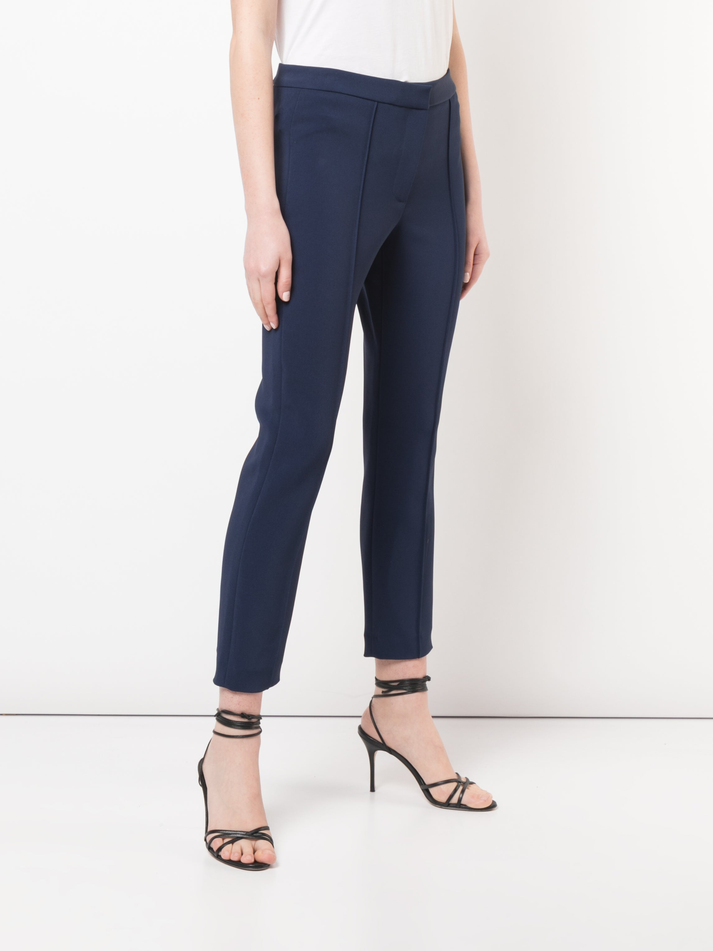 Stretch Cady cigarette pant with pintucks
