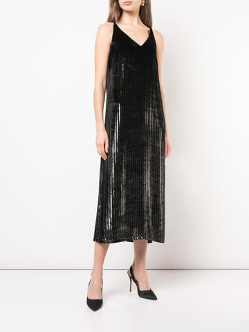 SILK CREPE PLEATED SKIRT WITH CRYSTAL EMBROIDERY AND LACE INSETS
