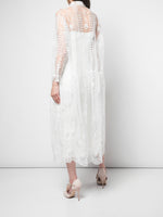 SHIRTDRESS IN EMBROIDERED TULLE