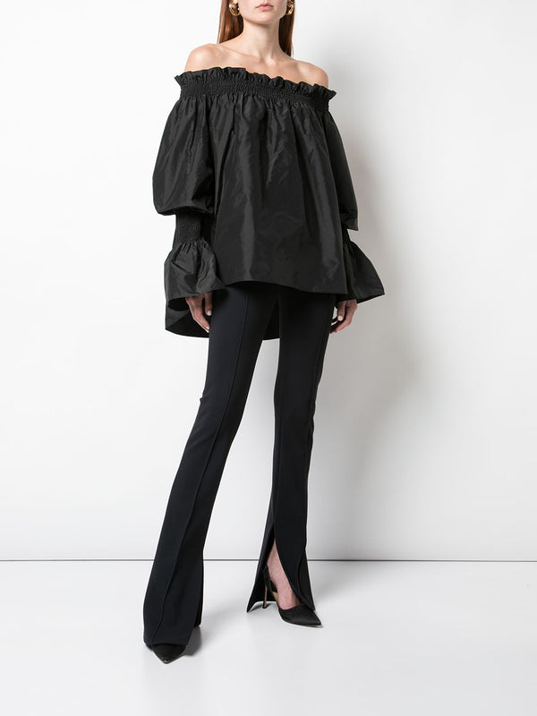 TAFFETA OFF-THE-SHOULDER TOP