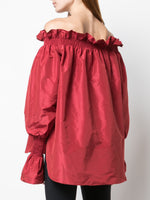 OFF-THE-SHOULDER TOP IN TAFFETA