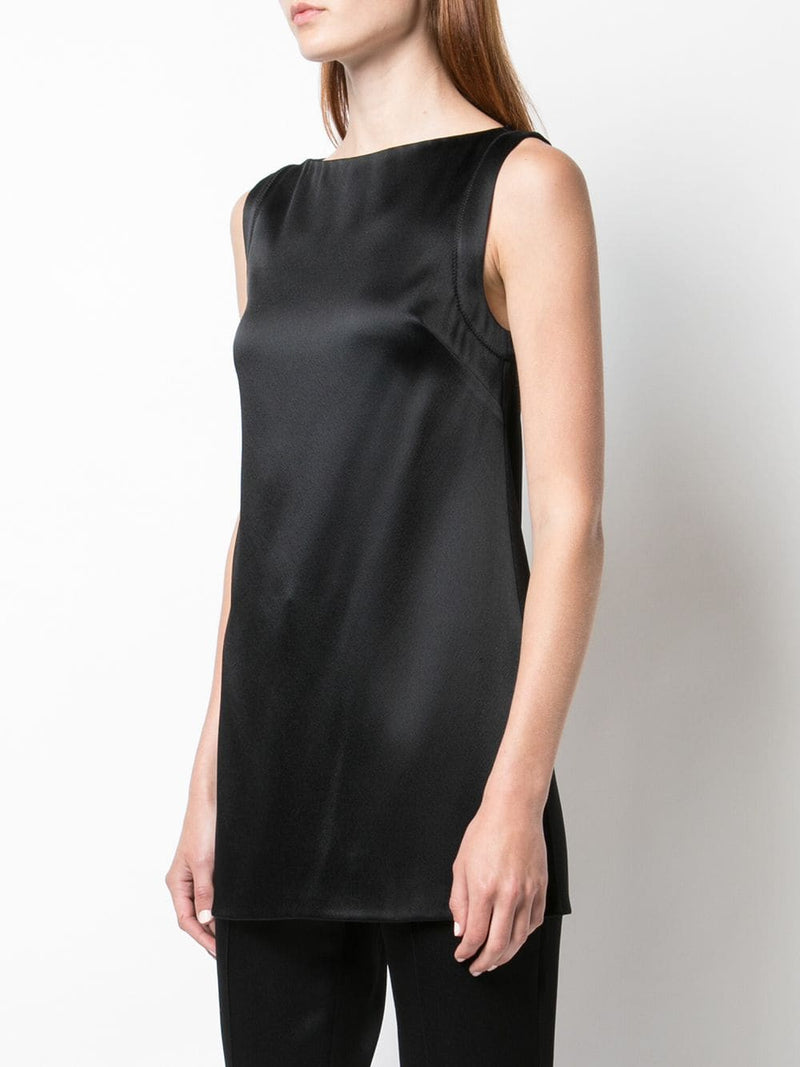 DOUBLE HAMMERED SATIN TUNIC