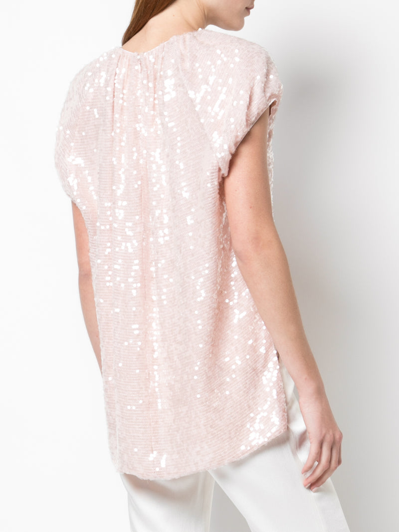 SEQUIN EMBROIDERED TOP