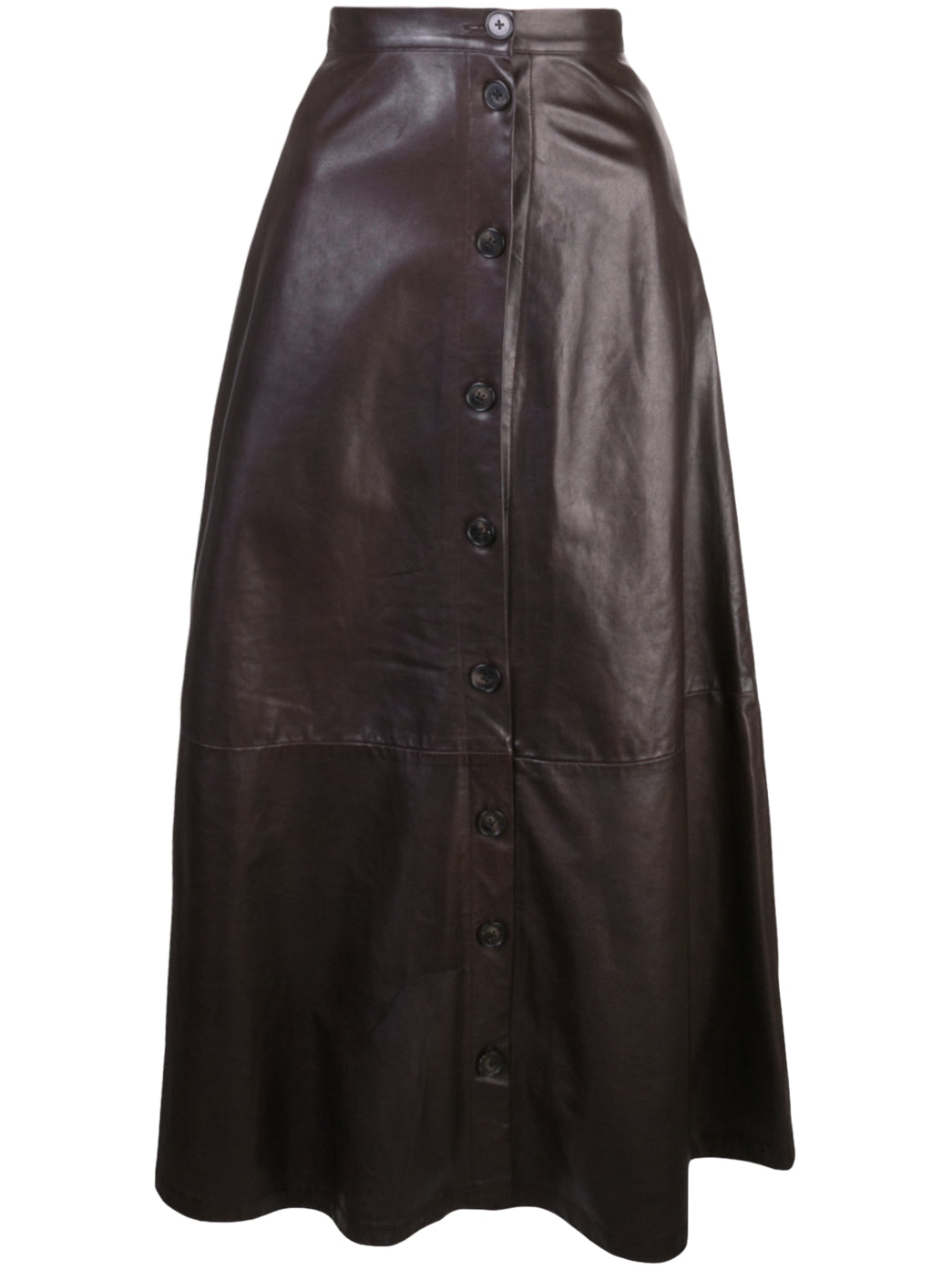 MIDI SKIRT IN LEATHER