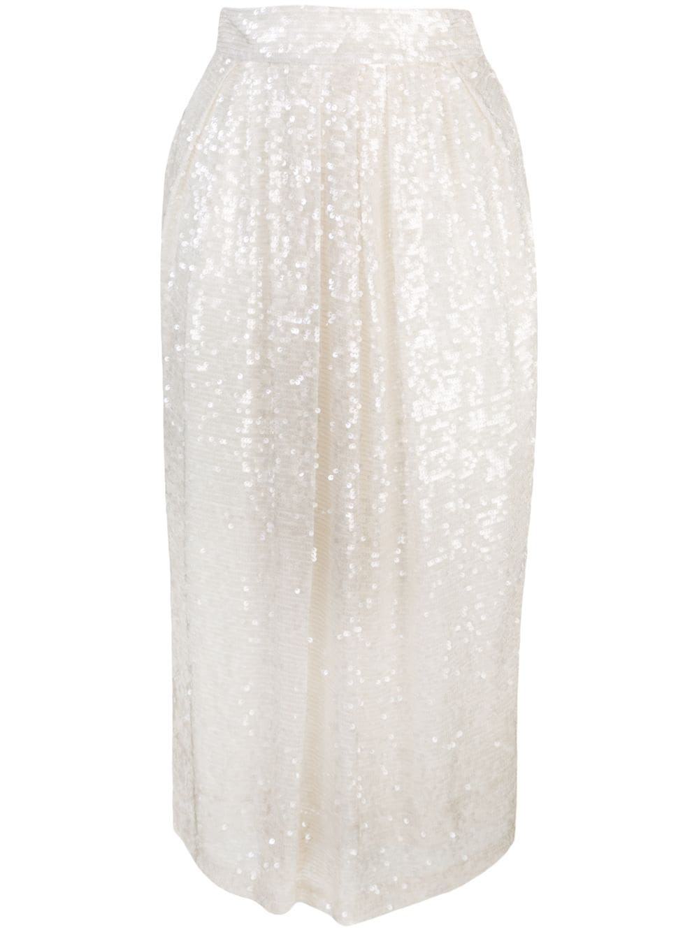 EMBROIDERED MIDI BALL SKIRT IN SEQUIN