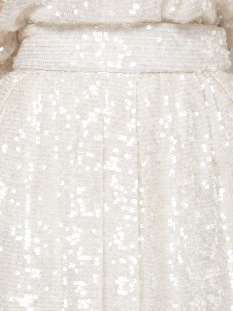 SEQUIN EMBROIDERED MIDI BALL SKIRT