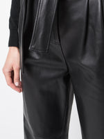 TIE-WAIST PANT IN LEATHER