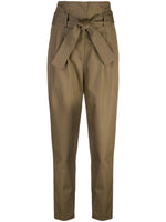TIE-WAIST PANT IN COTTON TWILL