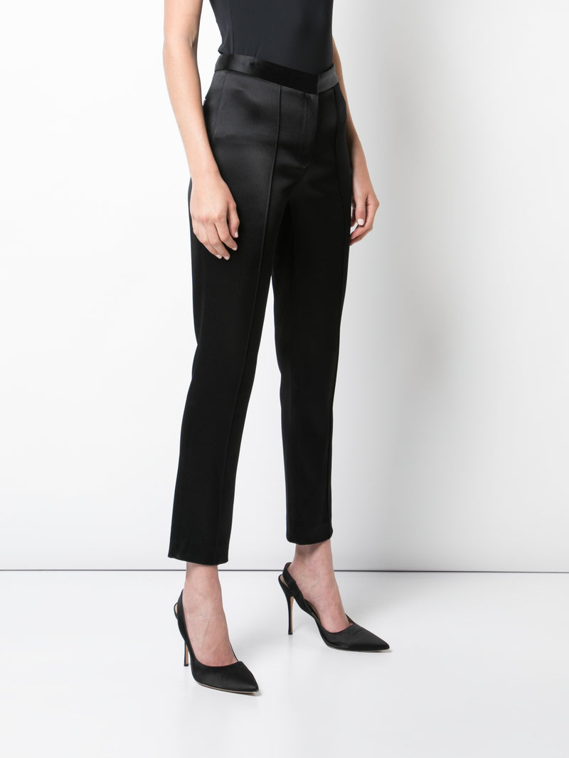 DOUBLE HAMMERED SATIN CIGARETTE PANT