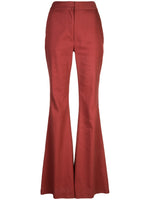 FLARED PANT IN TEXTURED COTTON