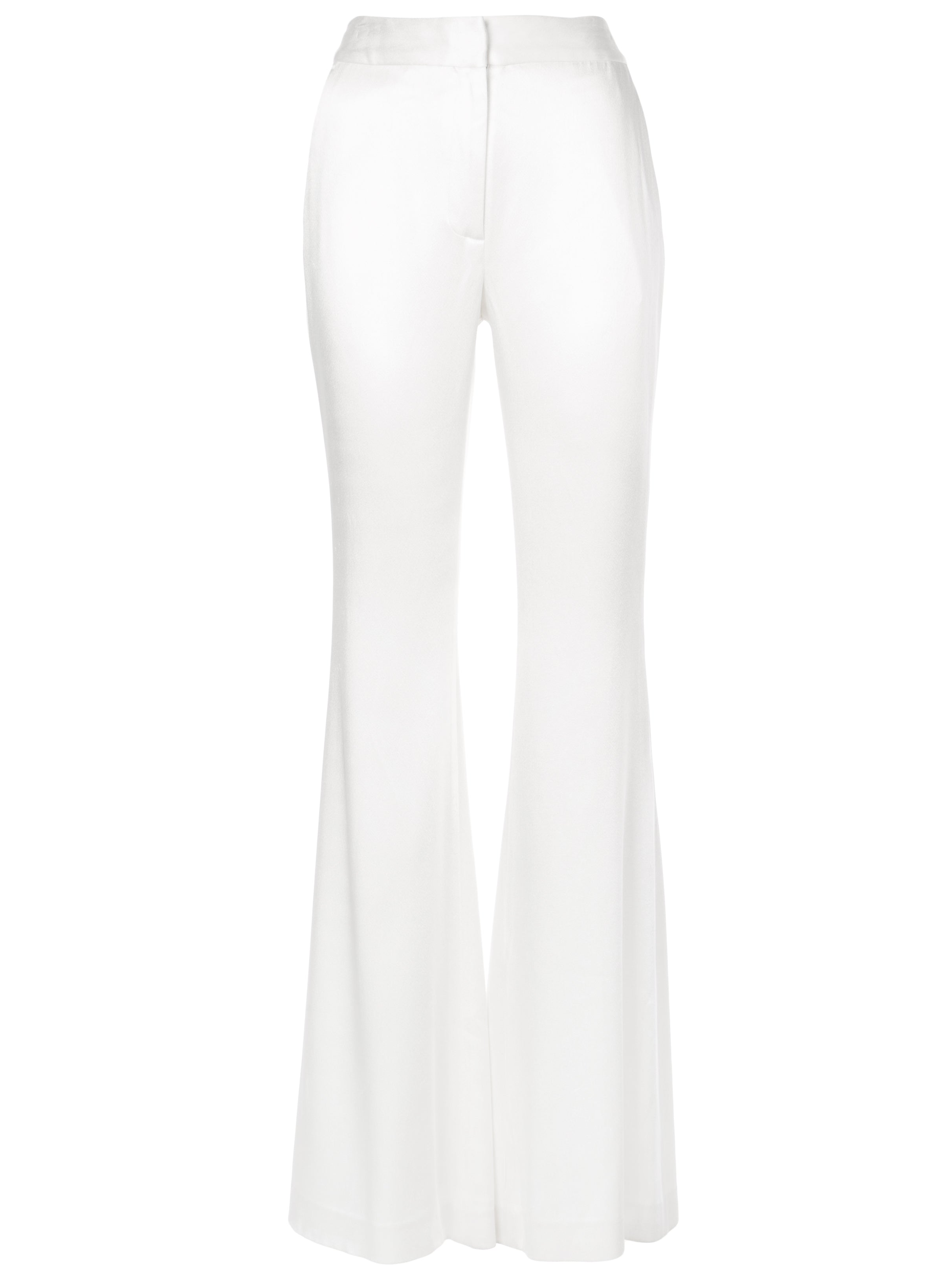 DOUBLE HAMMERED SATIN FLARED PANT