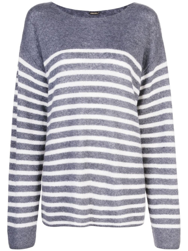 BRUSHED CASHMERE BRETON STRIPE SWEATER