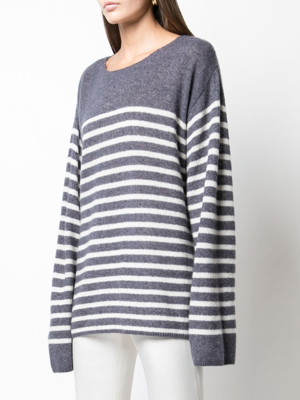 BRETON STRIPE SWEATER IN BRUSHED CASHMERE