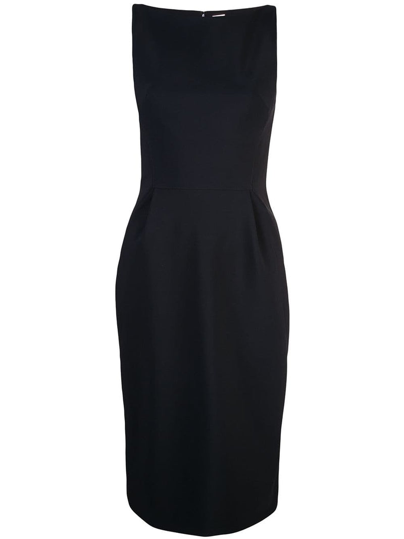 BONDED NEOPRENE BOATNECK SHEATH DRESS