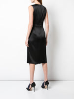 ASYMMETRIC DRESS IN DOUBLE HAMMERED SATIN