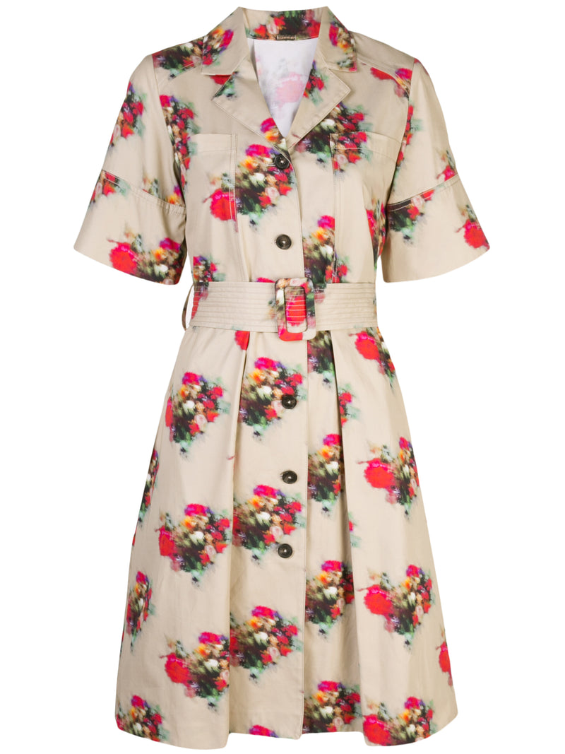 PRINTED COTTON TWILL SHIRTDRESS