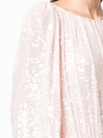 SEQUIN EMBROIDERED BOATNECK GOWN
