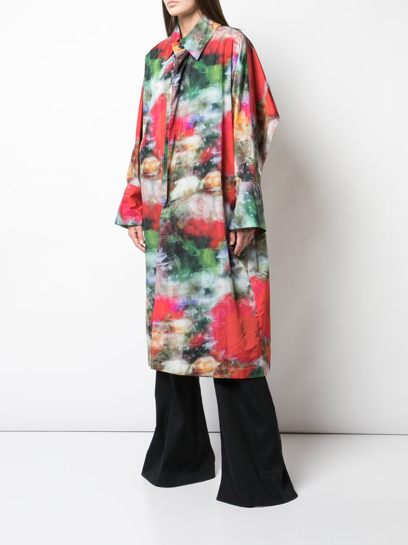 PRINTED NYLON RAINCOAT