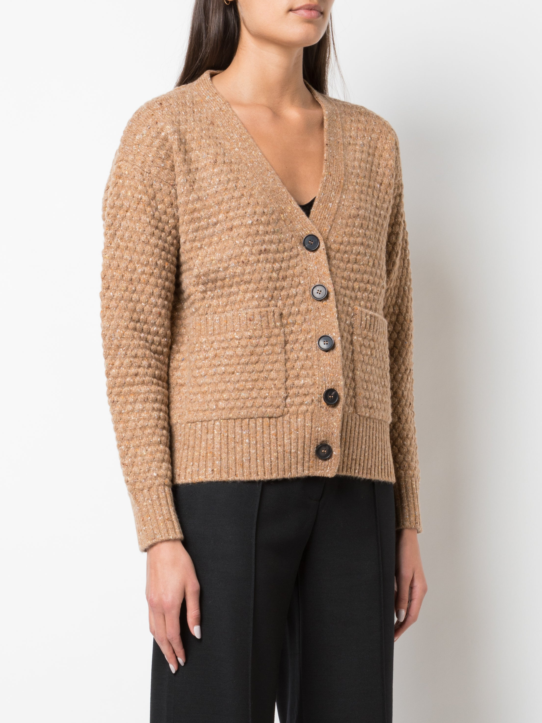 MARLED WOOL CASHMERE CROPPED CARDIGAN