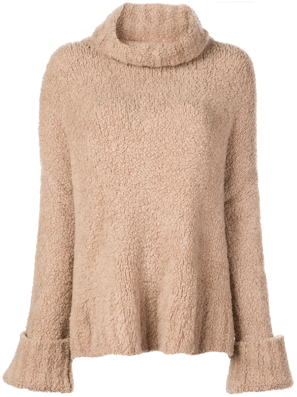 MERINO CASHMERE TEDDY BEAR TURTLENECK