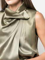 COWL NECK SHELL IN SILK CHARMEUSE