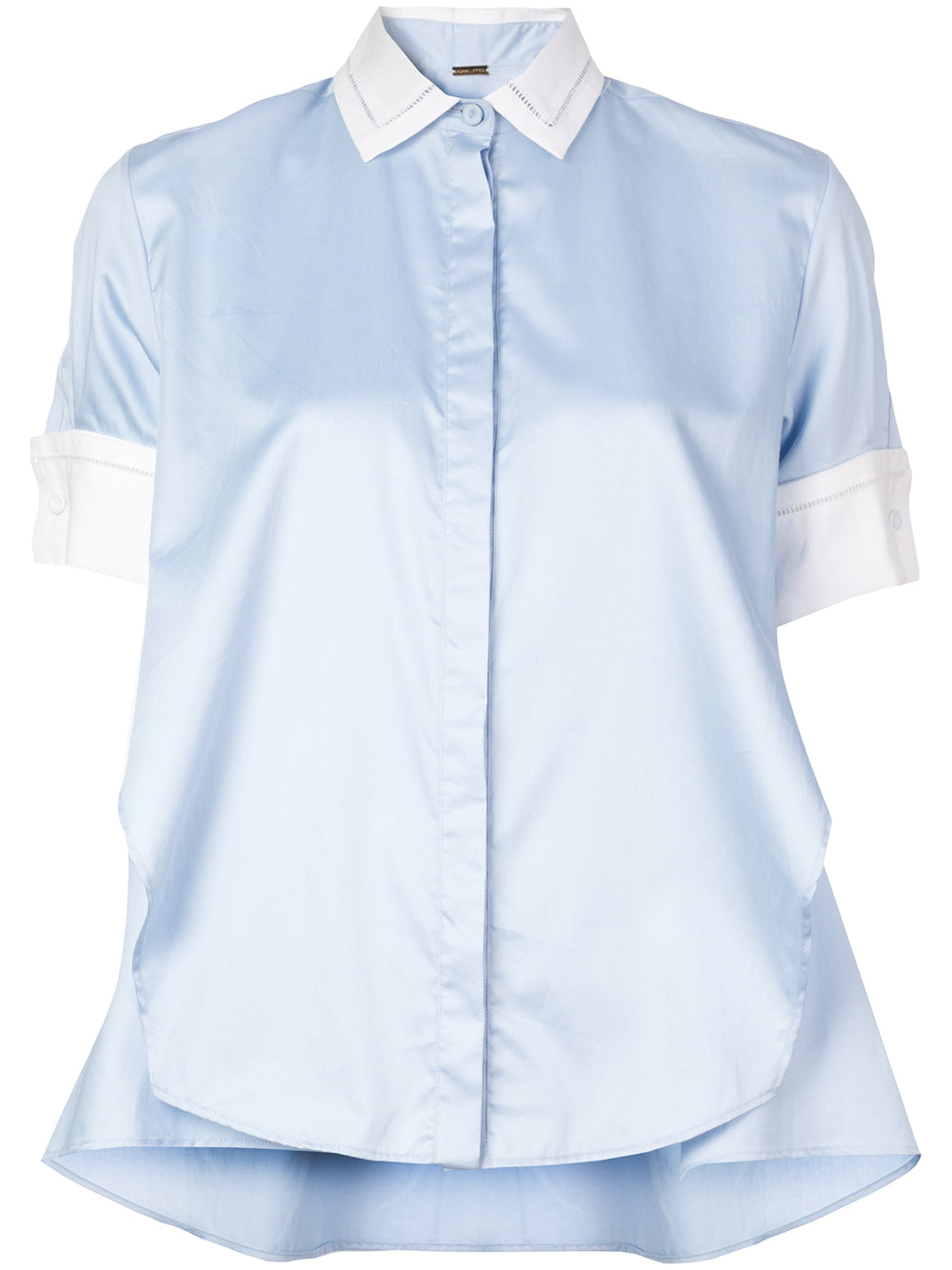 COTTON POPLIN TRAPEZE SHIRT
