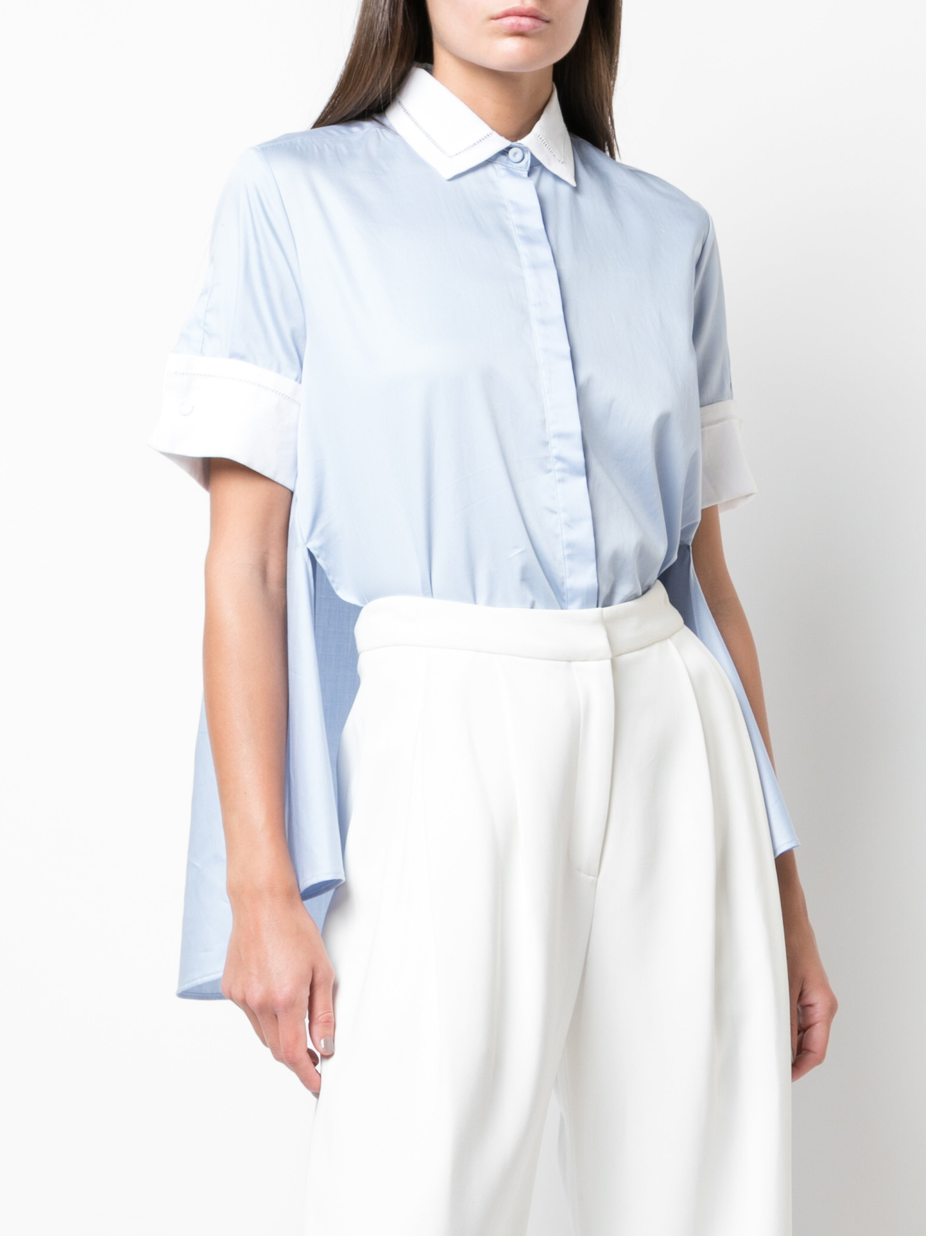 TRAPEZE SHIRT IN COTTON POPLIN