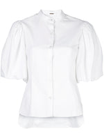 COTTON POPLIN FITTED BLOUSE